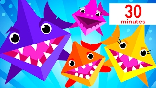 Baby Shark Origami, Twinkle Twinkle, and more! | Kids Songs | by Little Angel