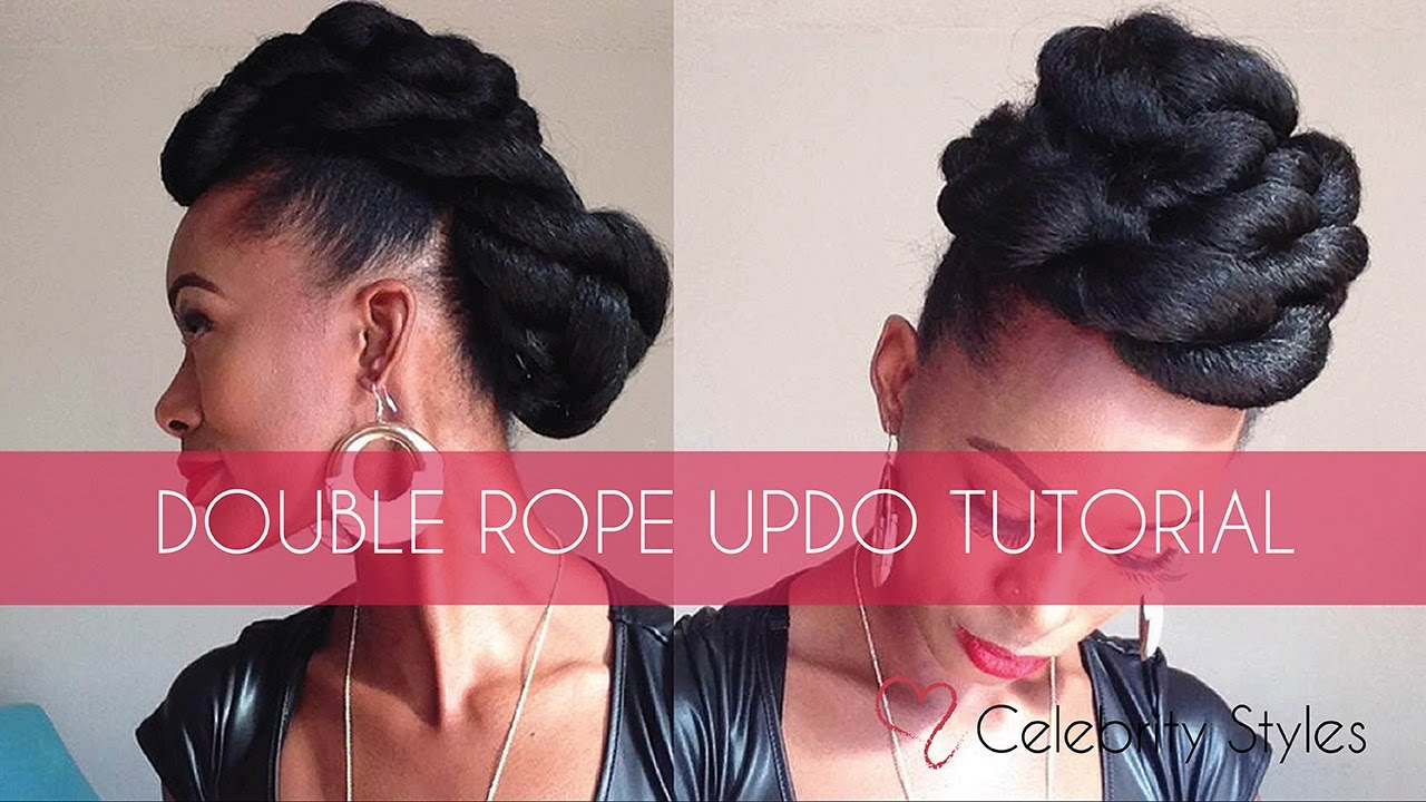 Hair Tutorial: EASY Double-Rope Updo with Kankekalon Jumbo Braid ...