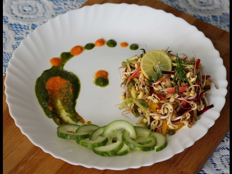 How to make colourful and healthy sprout salad