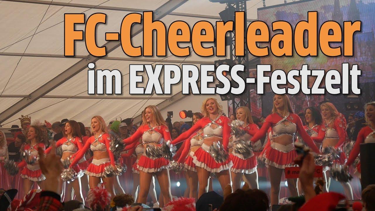 Karneval 2018 Fc Cheerleader Im Express Ksta Festzelt Youtube