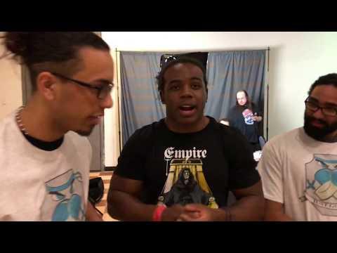 #NEC18 Vlog   Day 1   Game Gallery, Xavier Woods, One Floor One Family