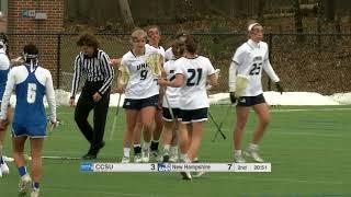 UNH Women's Lacrosse vs CCSU Highlights 02/24/18