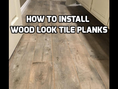 Install Wood Look Tile Planks On Ditra With Qep Leveling