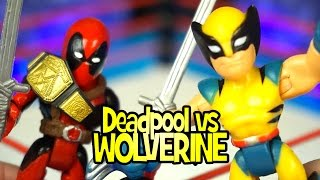 Deadpool vs Wolverine - Rumble League with Playskool Marvel X-Men Toys & Avengers Toys by KidCity