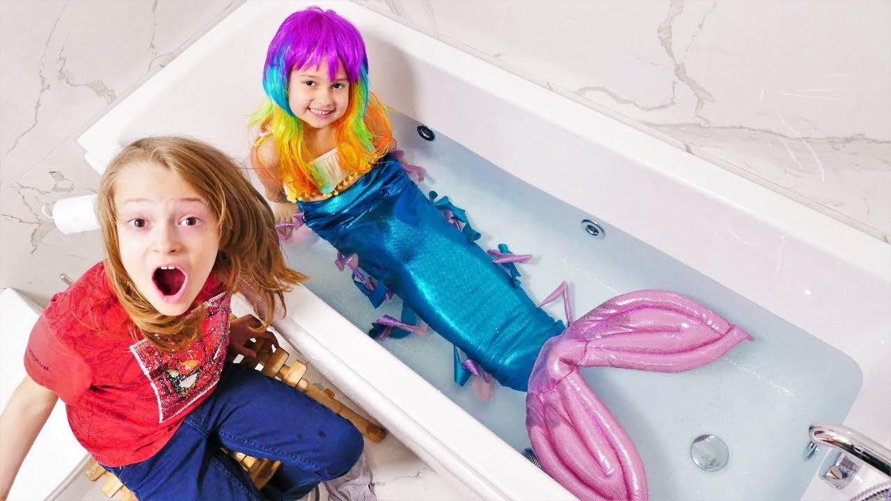 Cómo convertirse en una Sirena. Juegos para niños. Vídeos para niñas y niños