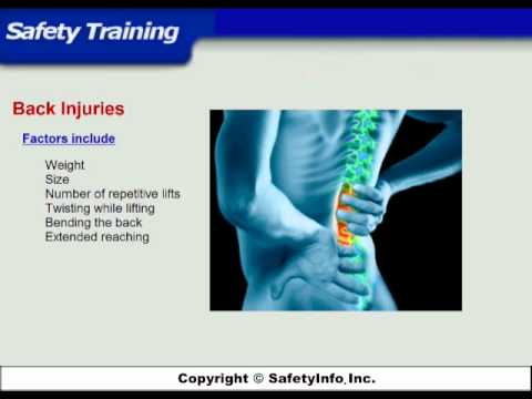 Ergonomics - Safety Training Video Course - SafetyInfo.com