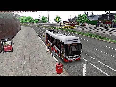 OMSI 2: Hamburg HafenCity Volvo 7900 Hybrid-Bus Linie 111!   BUS-SIMULATOR 1080p 60 FPS