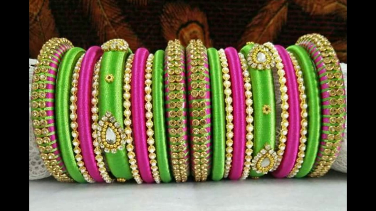 Silk Thread Hand Made Bangles Designs @ New Models - YouTube