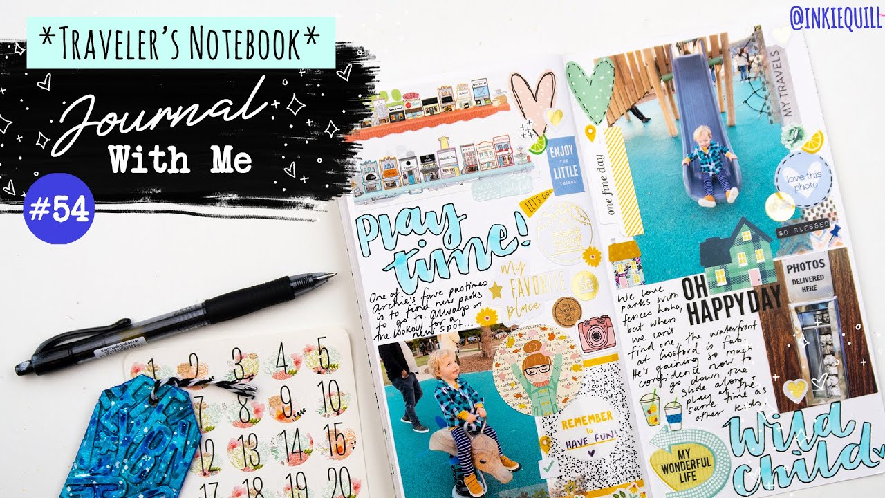 JOURNAL WITH ME #54 *Traveler's Notebook* // STICKER STASH DIVE