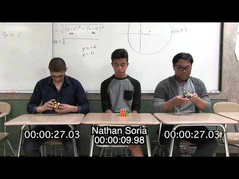 Burbank High School 2016 Rubik's Cube Challenge Finals