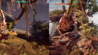 Horizon Zero Dawn - PS4 pro vs 1080p PS4