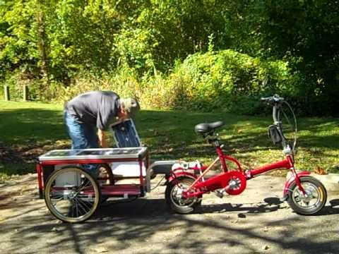 a solar e bike trailer a solar generator bicycle cargo. Black Bedroom Furniture Sets. Home Design Ideas