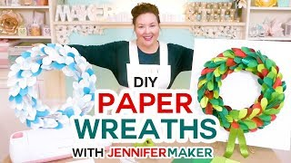 DIY Paper Wreaths for Winter