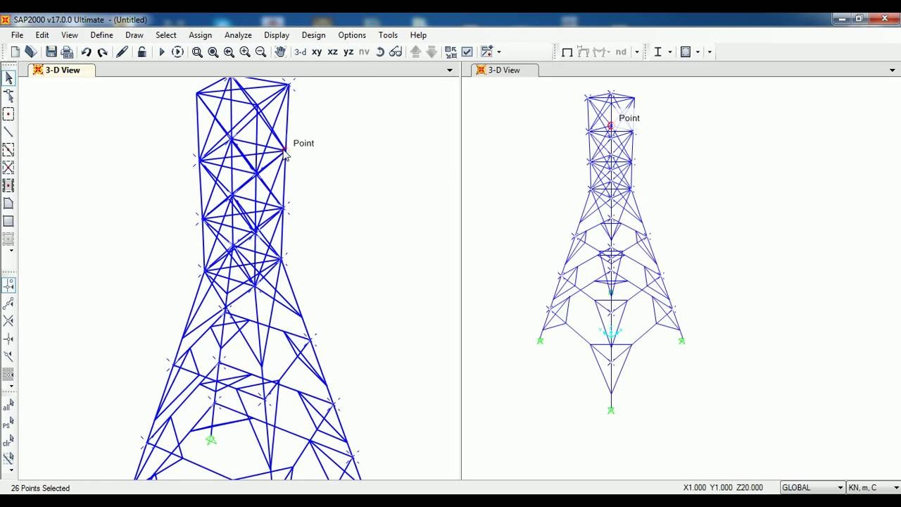 SAP2000-3D TRUSS Analysis Civil Engineering