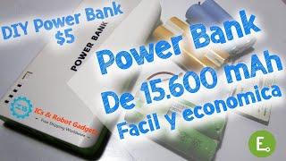 Cómo hacer Power Bank de15600mAh Casera Facil y Barato   DIY Power Bank   Review ICStation