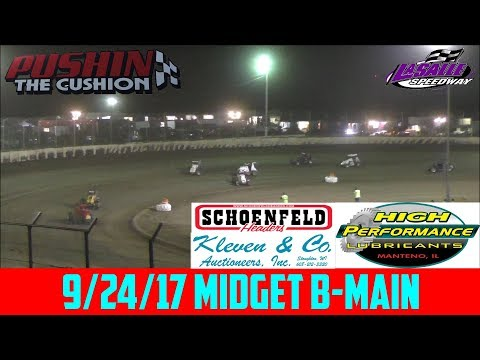 LaSalle Speedway - 9/24/17 - Midgets - B-Main