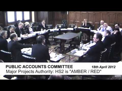 Red-Amber Faces for HS2's rating at the Department for Transport