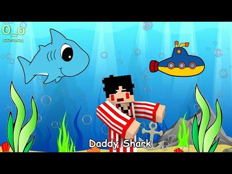 Baby Shark - 4 Brother Version | Minecraft Animation Indonesia