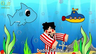 Baby Shark - 4 Brother Version | Minecraft Animation Indonesia