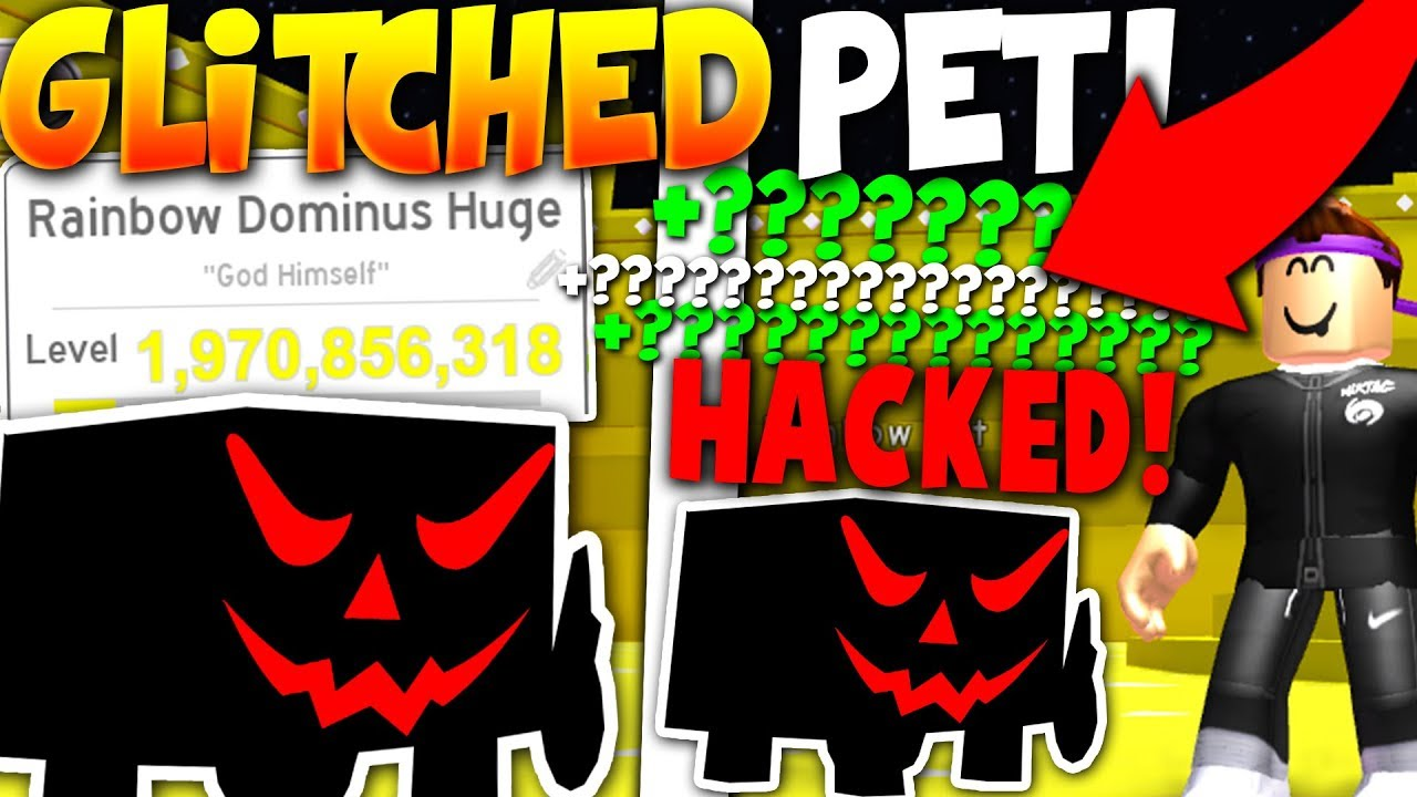 I GOT A GODLY SUPER RARE RAINBOW GLITCHED PET! *BROKE GAME* - Roblox Pet Simulator
