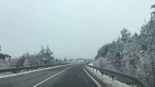Driving to Plitvice Lakes National Park, Croatia