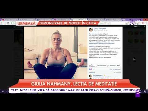 Giulia Nahmany, lecția de meditație yoga