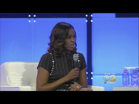 Former First Lady Michelle Obama Headlines Women's Event In Philadelphia