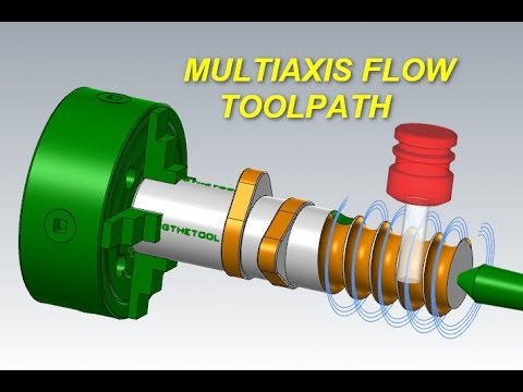 Mastercam Multiaxis Tutorial: Flow Multiaxis Toolpath - Part