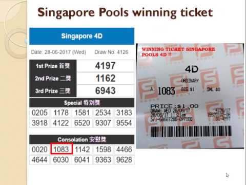 Singapore 4D results prediction forecast Wins prize in Singapore