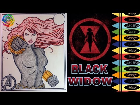 Ultimate Avengers Coloring Pages : Marvel s avengers black widow coloring page youtube