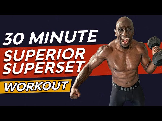 30 Minute Muscle Building SuperSet Workout | Burn Fat | Dumbbell HIIT Training