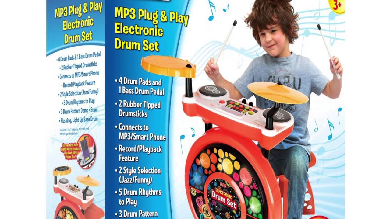 Electronic Drum Set For Kids Review Youtube