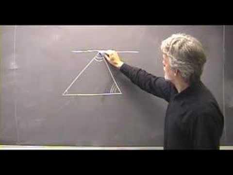 Vinkelsummen i en trekant - YouTube