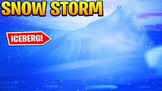 How to Get to the ICEBERG / SNOWSTORM in Fortnite!