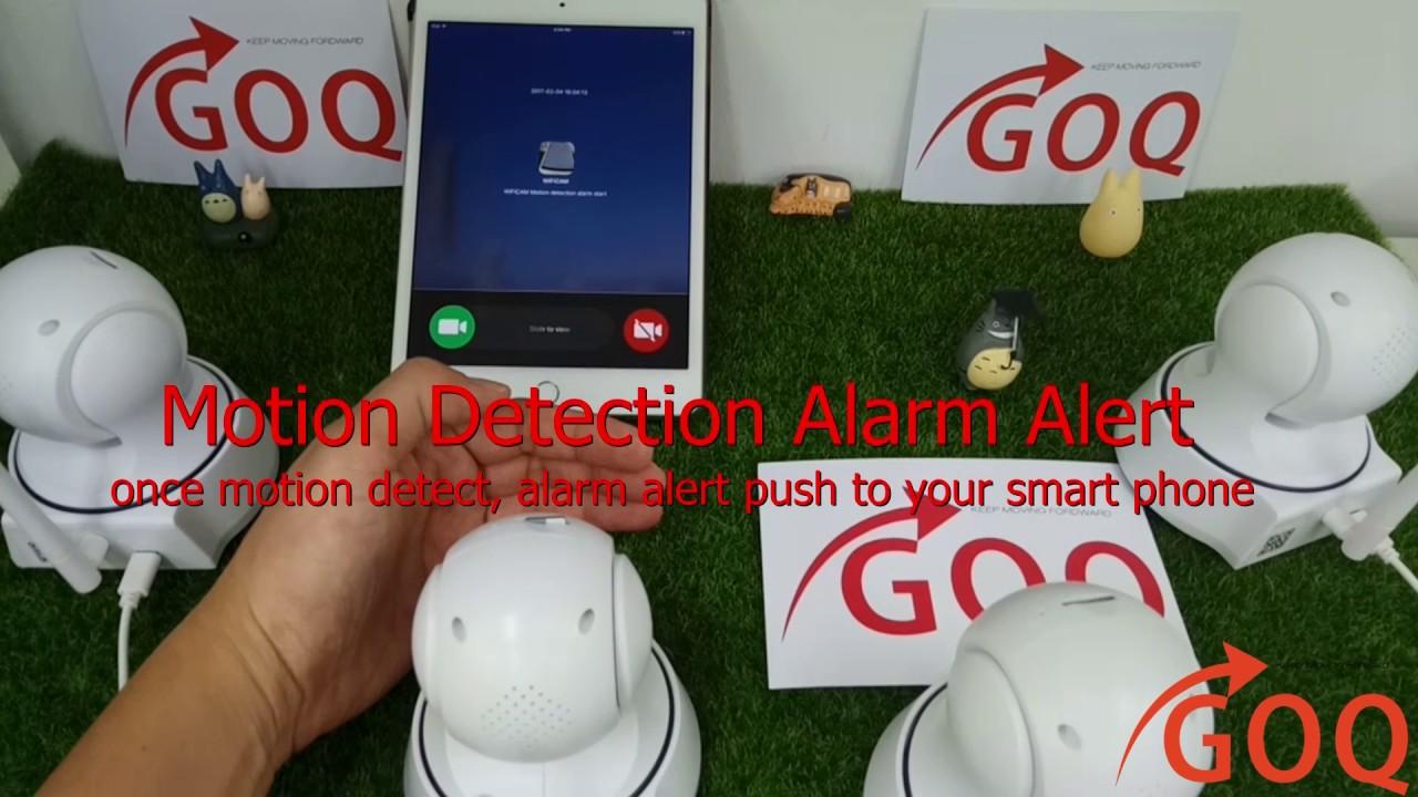 Motion Detection Alarm Alert - GOQ Q3 Wifi IP Cam 720P HD Security Camera