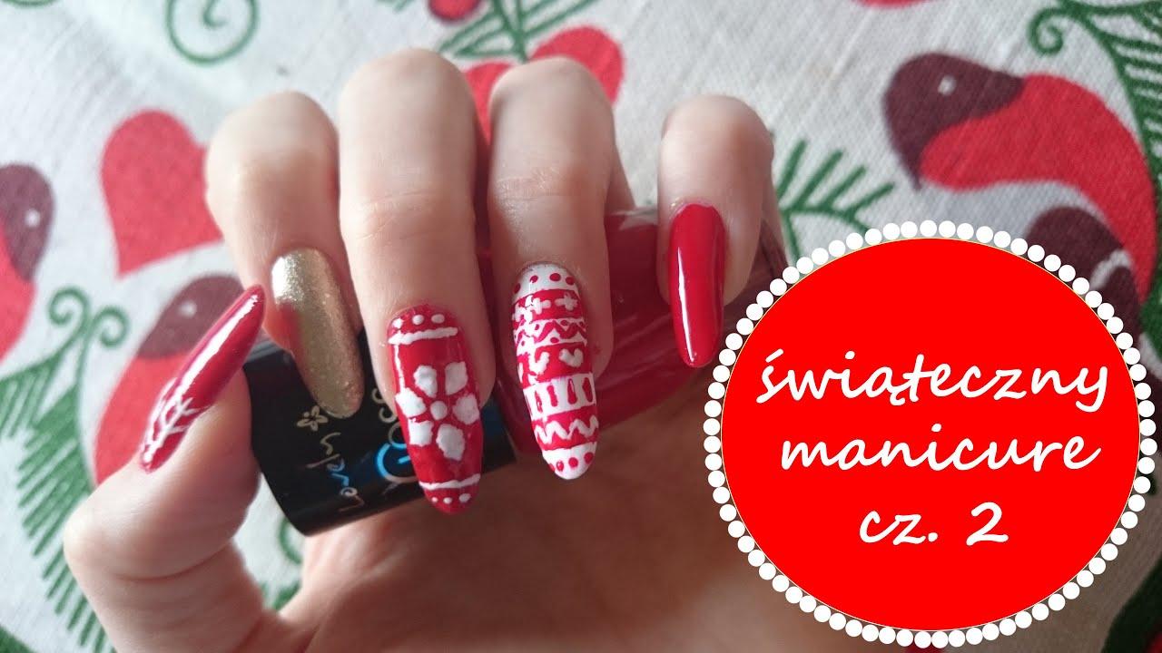 świąteczny Sweterek Na Paznokciach Christmas Sweater Nails Youtube