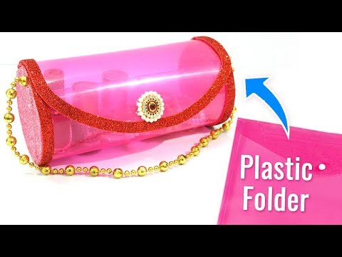 Super Easy Best Out of Waste Craft Ideas From Old Plastic Folder | Recycling Craft Ideas