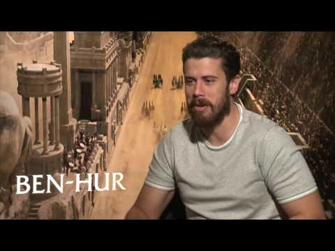Watch how funny Toby Kebbell explains why chariot racers wear brown trousers