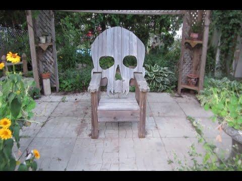 skull chair aluminum folding yard badass youtube