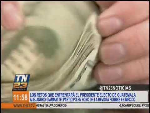 Presidente Electo Alejandro Giammattei Resaltó El  Potencial Económico De Guatemala