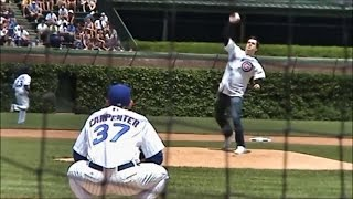 Comedian Jim Jefferies Gets Heckled After Awful 1st Pitch At Wrigley!