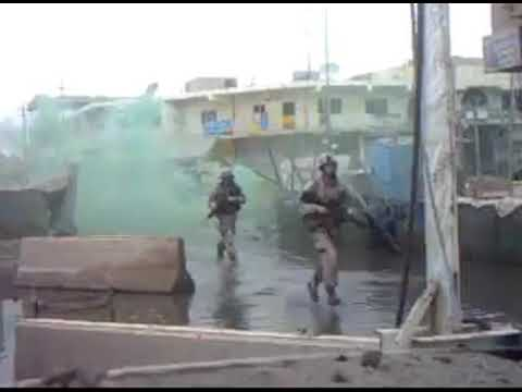 (COMBAT) Marines Pinned Down By Insurgent Fire | Ramadi Iraq, 2006