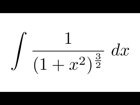 Integral of 1/(1+x^2)^(3/2) (substitution) - YouTube - 1/2^x