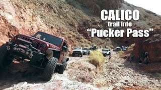 Calico Offroad Trail Obstacle: Pucker Pass