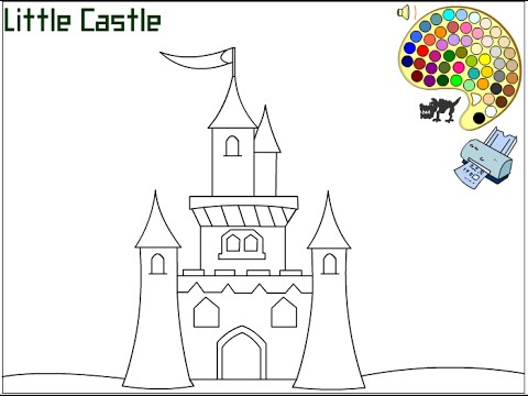 Castle Coloring Pages For Kids - Castle Coloring Pages - YouTube