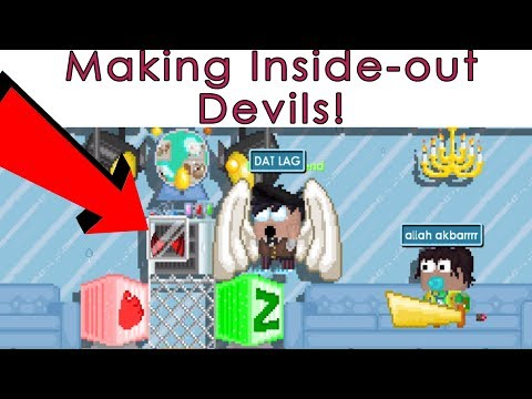 Growtopia - Making inside-out devil wing! [RECIPE]
