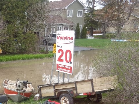 Voisine Road under water in Rockland Ontario May 4th 2017