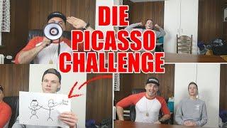 PICASSO CHALLENGE MIT UnsympathischTV ! | Youtuber Malen