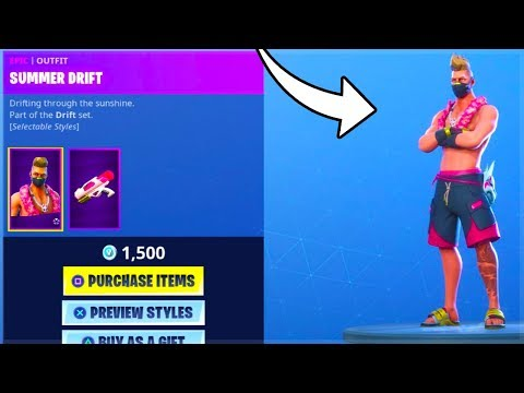 THE SUMMER DRIFT SKIN in FORTNITE IS AWESOME! (Summer Drift Skin) Item Shop COuntdown June 24th