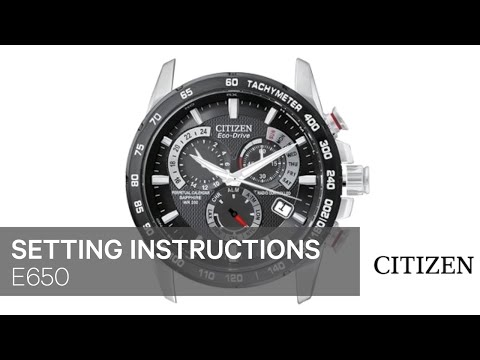 bf423716685 OFFICIAL CITIZEN E650 Setting Instruction - YouTube